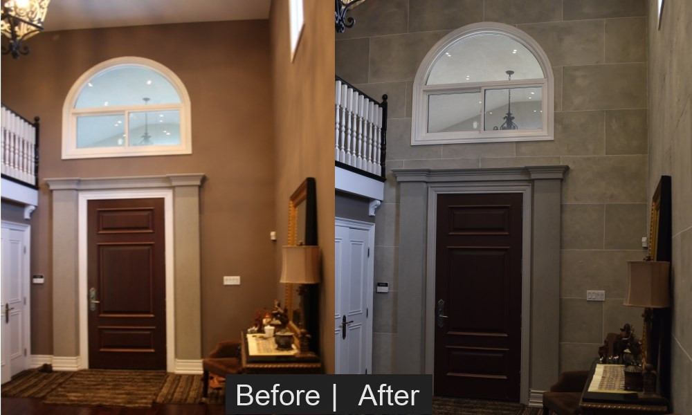 Drywall To Stone Effect Bennys Painting